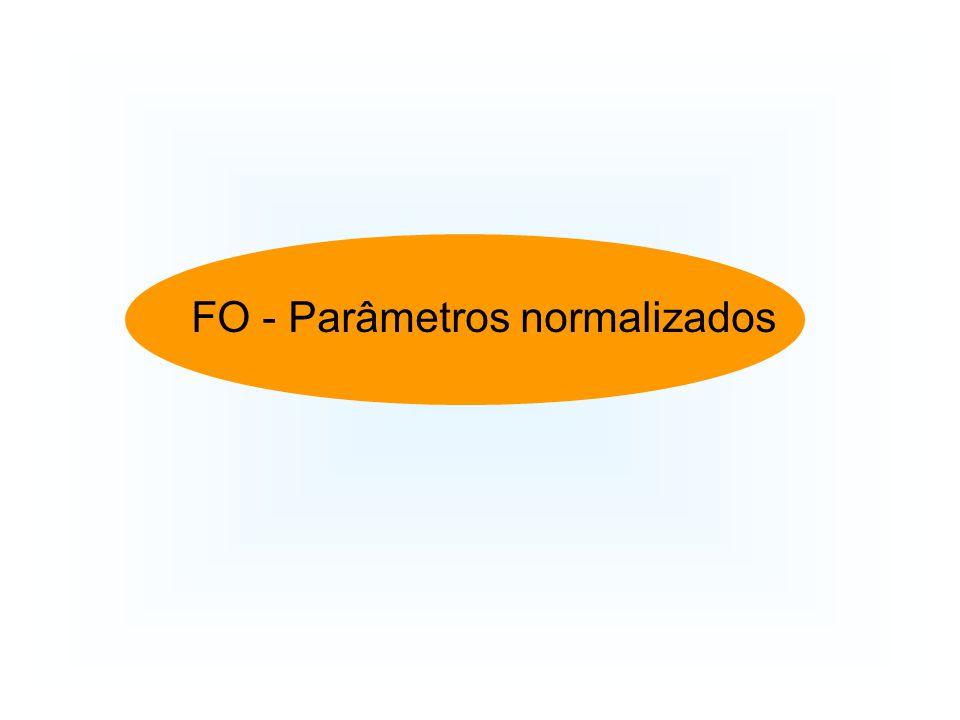 FO - Parâmetros normalizados