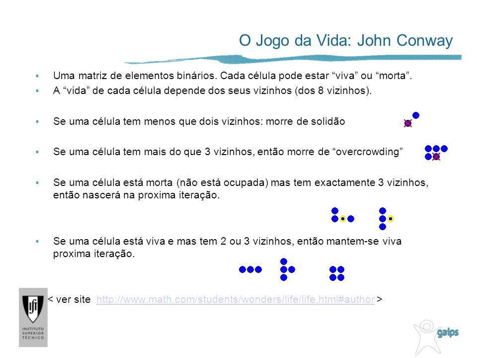 O Jogo da Vida: John Conway Uma matriz de elementos binários.