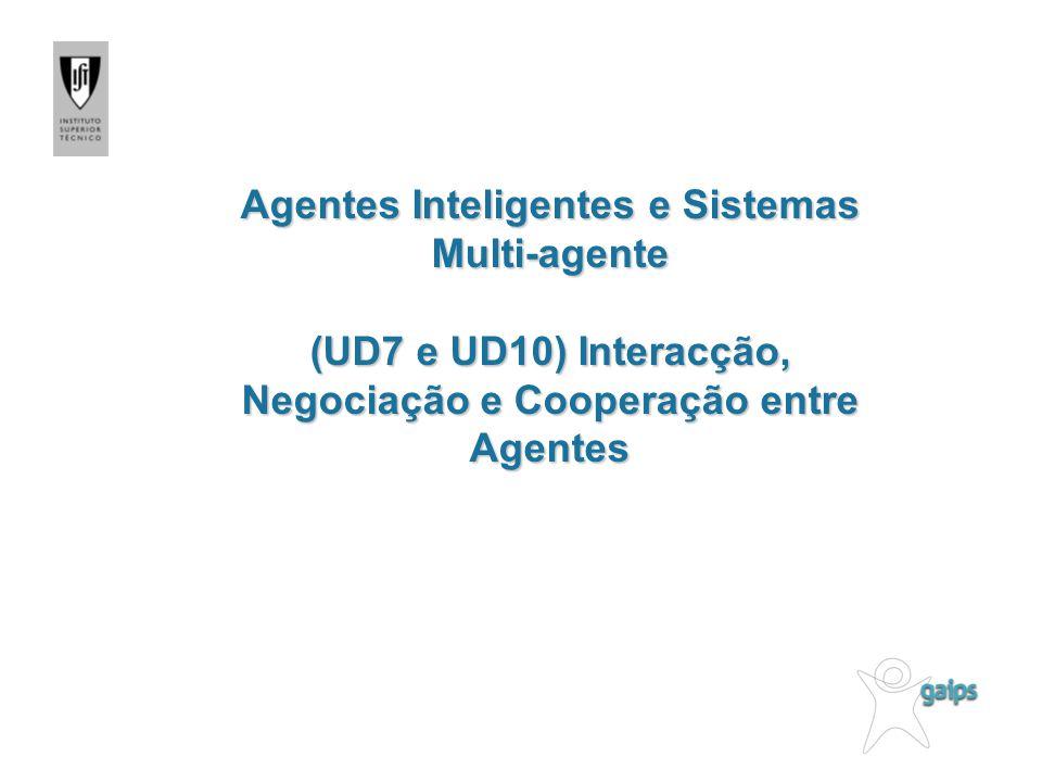 Problemas a resolver Problema dos comportamentos sociais e individuais Como especificar os comportamentos sociais dos agentes.