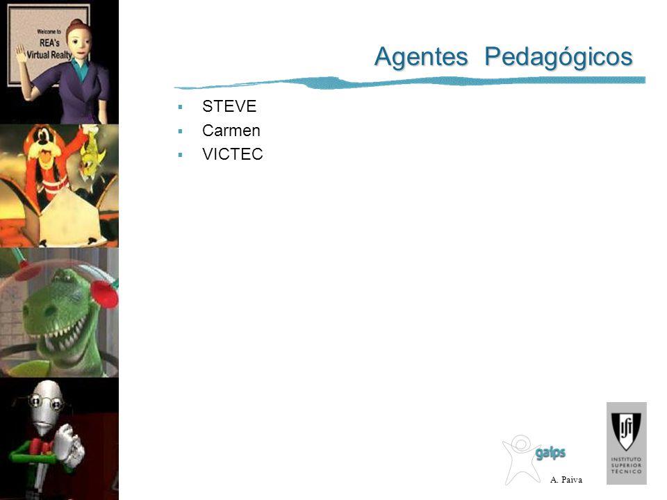 A. Paiva Agentes Pedagógicos STEVE Carmen VICTEC