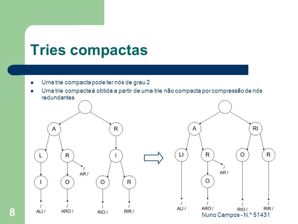 Nuno Campos - N.º 51431 9 Representação compacta