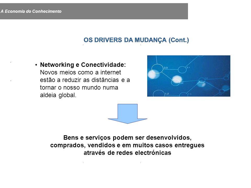 Networking e Conectividade: Novos meios como a internet estão a reduzir as distâncias e a tornar o nosso mundo numa aldeia global.