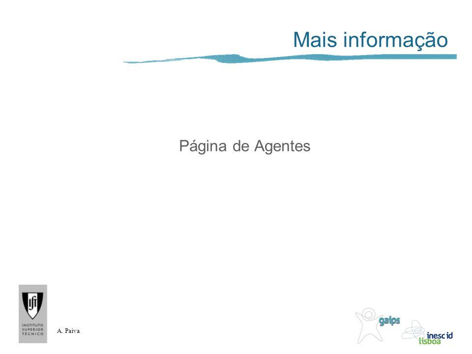 A. Paiva Mais informação Página de Agentes