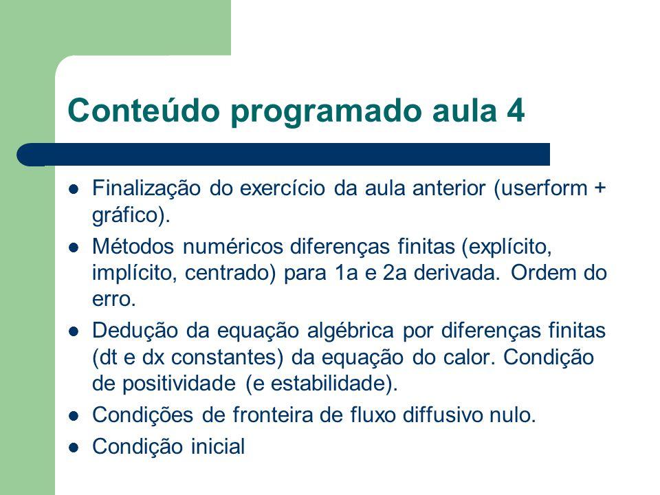 Conteúdo das aulas seguintes Inicialização de arrays Emissão instantânea Emissão contínua Programação do trabalho computacional para mfa