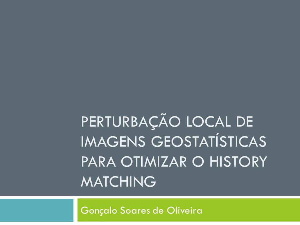 PERTURBAÇÃO LOCAL DE IMAGENS GEOSTATÍSTICAS PARA OTIMIZAR O HISTORY MATCHING Gonçalo Soares de Oliveira