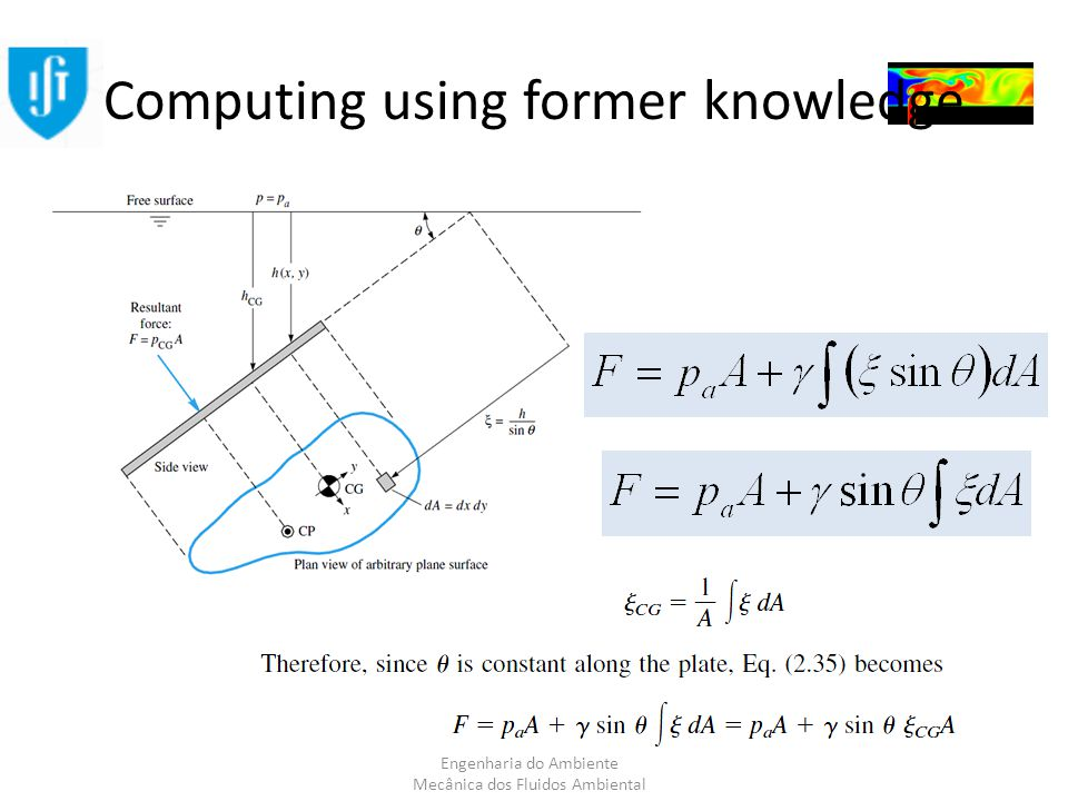 Engenharia do Ambiente Mecânica dos Fluidos Ambiental Computing using former knowledge