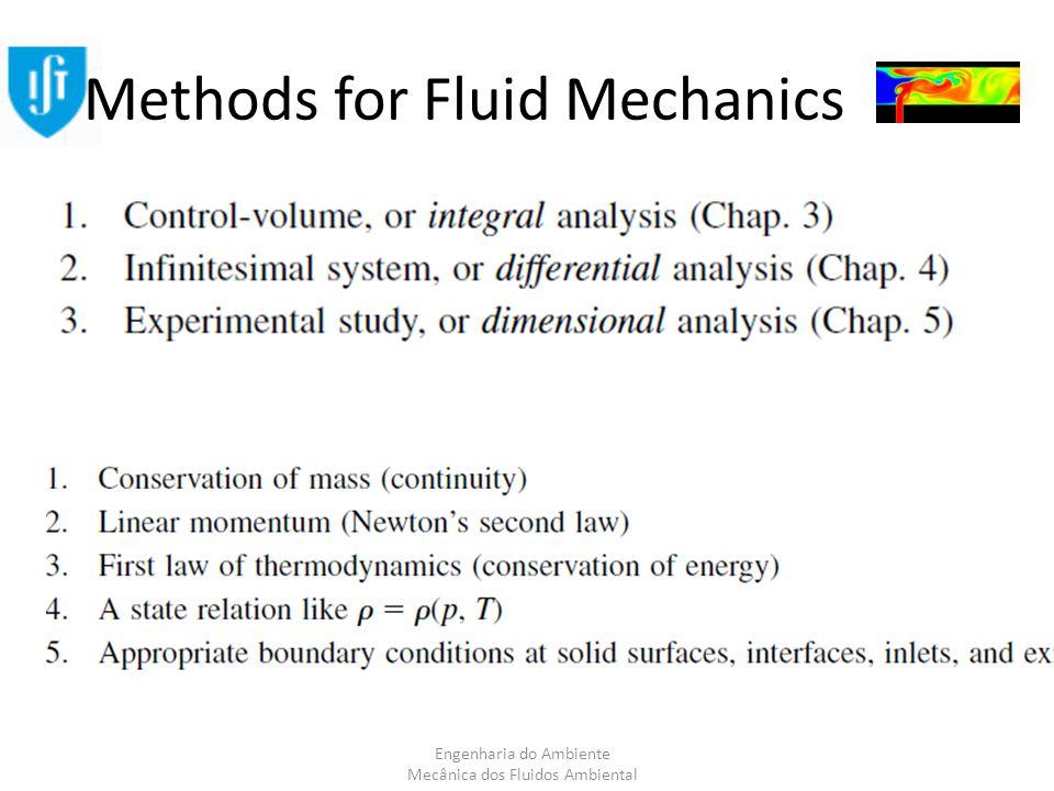 Engenharia do Ambiente Mecânica dos Fluidos Ambiental Methods for Fluid Mechanics