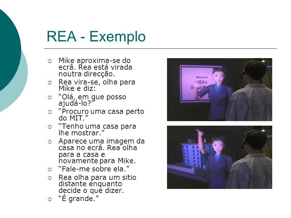 REA - Exemplo Mike aproxima-se do ecrâ. Rea está virada noutra direcção.