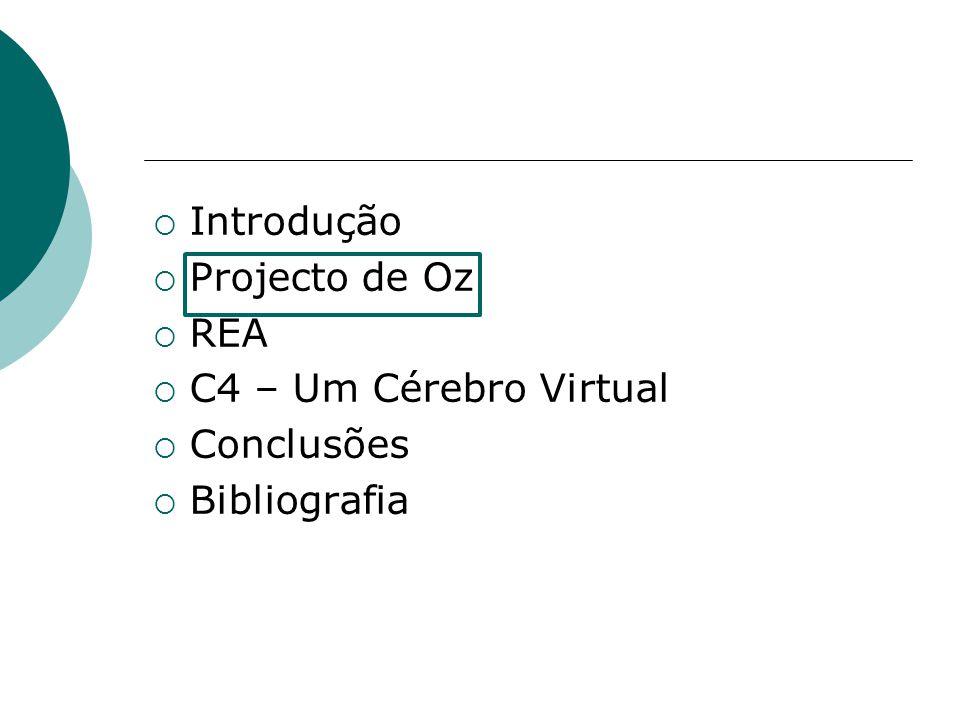 Introdução Projecto de Oz REA C4 – Um Cérebro Virtual Conclusões Bibliografia