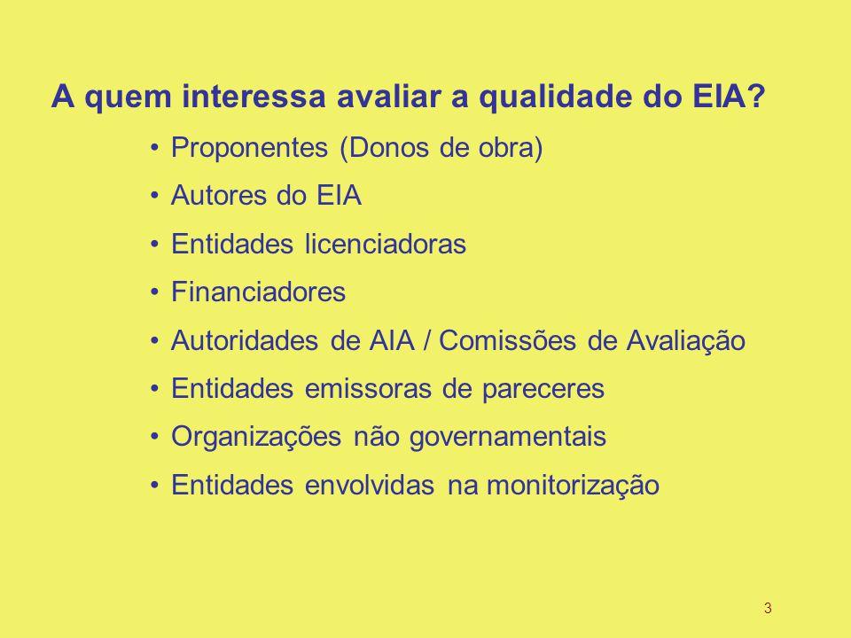 3 A quem interessa avaliar a qualidade do EIA.