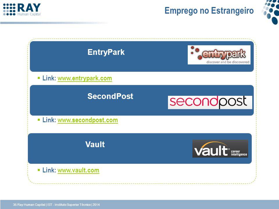 SecondPost EntryPark Emprego no Estrangeiro Link: www.entrypark.comwww.entrypark.com Link: www.secondpost.comwww.secondpost.com Link: www.vault.comwww