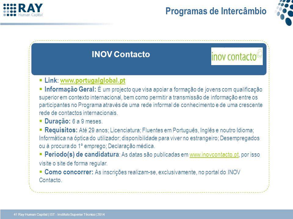 INOV Contacto Link : www.portugalglobal.pt www.portugalglobal.pt Informação Geral: É um projecto que visa apoiar a formação de jovens com qualificação