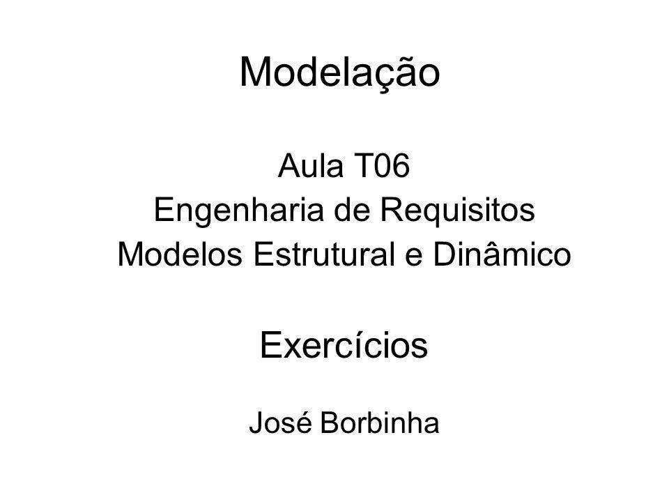 Modelação Aula T06 Engenharia de Requisitos Modelos Estrutural e Dinâmico Exercícios José Borbinha