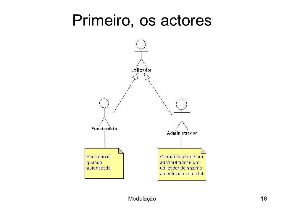 Modelação16 Primeiro, os actores
