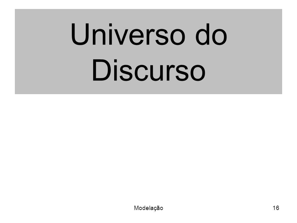 Modelação16 Universo do Discurso