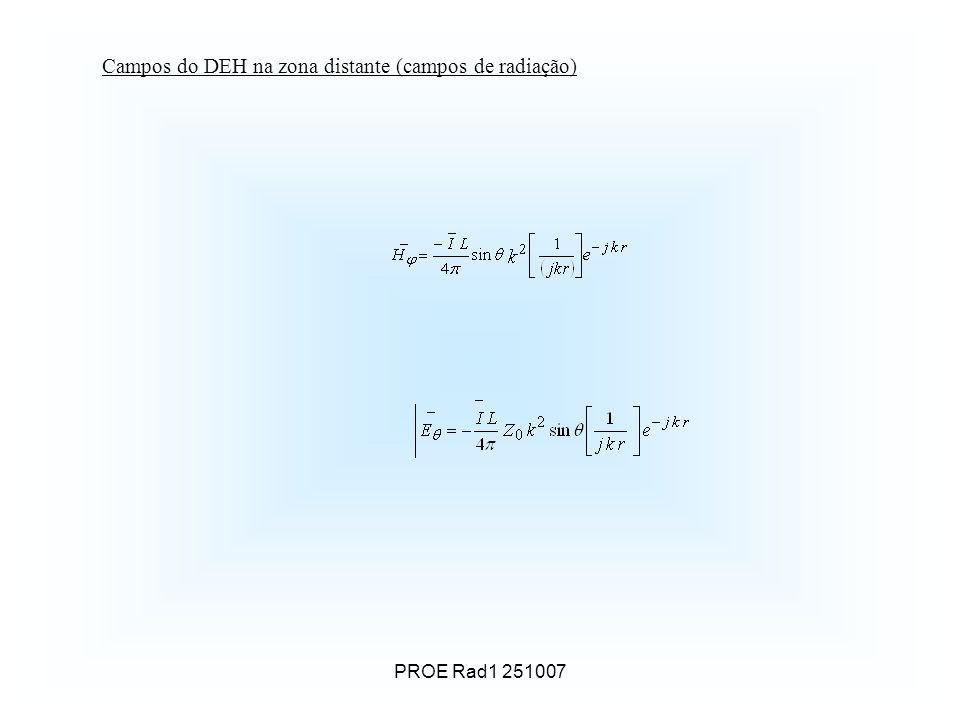 PROE Rad1 251007 Campos do DEH na zona distante (campos de radiação)