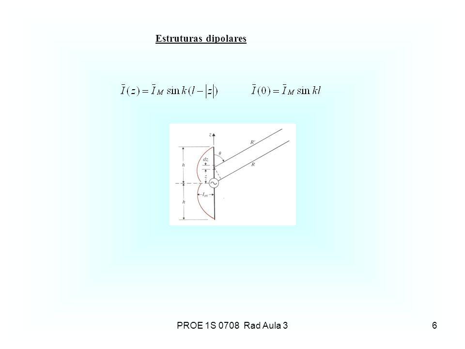 Estruturas dipolares 6PROE 1S 0708 Rad Aula 3