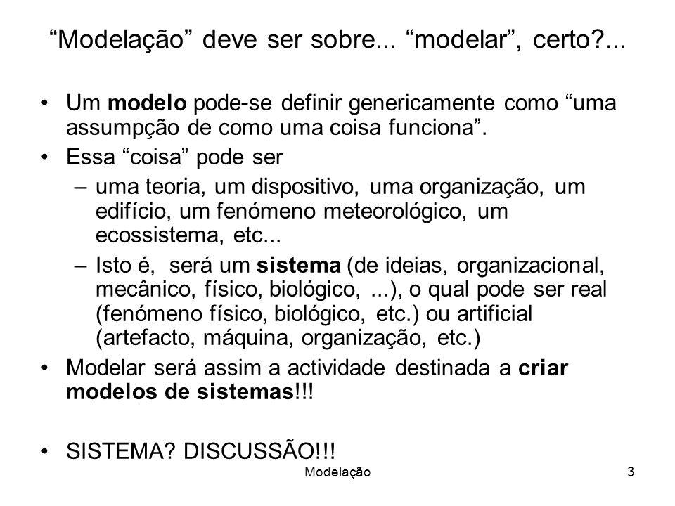 Modelação3 Modelação deve ser sobre... modelar, certo ...