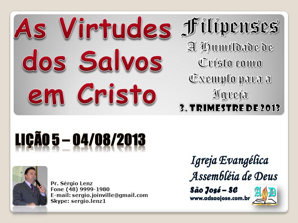 Pr. Sérgio Lenz Fone (48) 9999-1980 E-mail: sergio.joinville@gmail.com Skype: sergio.lenz1