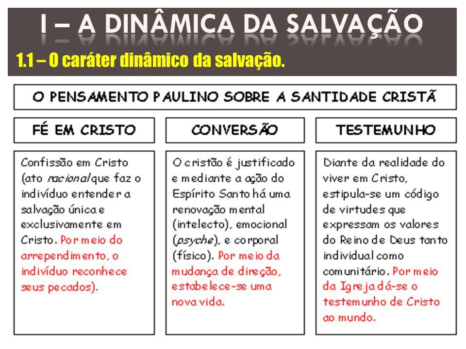 1.1 – O caráter dinâmico da salvação.