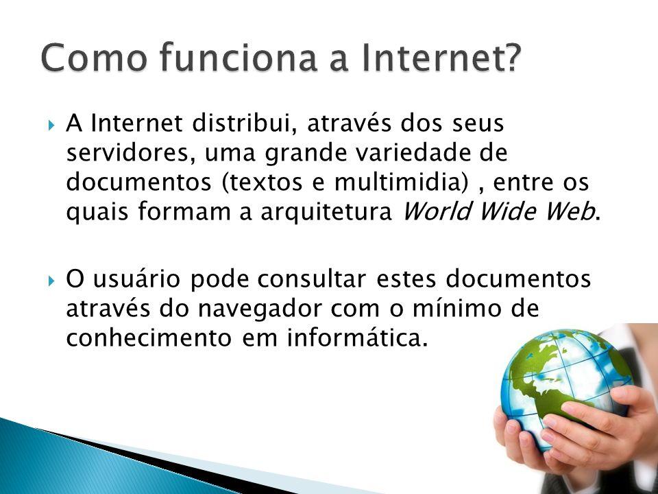 A Internet distribui, através dos seus servidores, uma grande variedade de documentos (textos e multimidia), entre os quais formam a arquitetura World