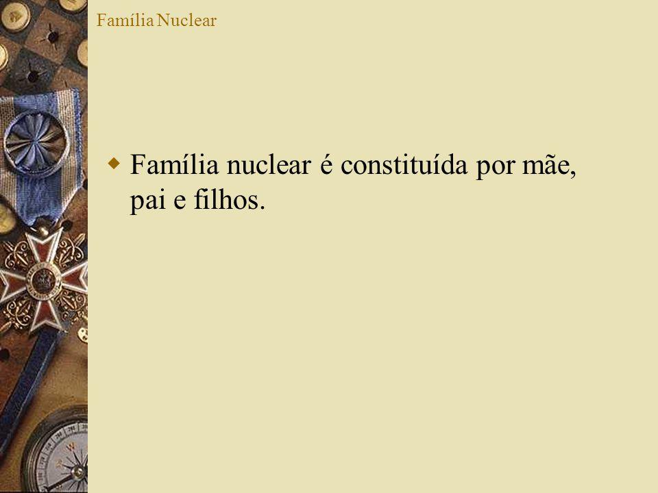 Família Nuclear Família nuclear é constituída por mãe, pai e filhos.