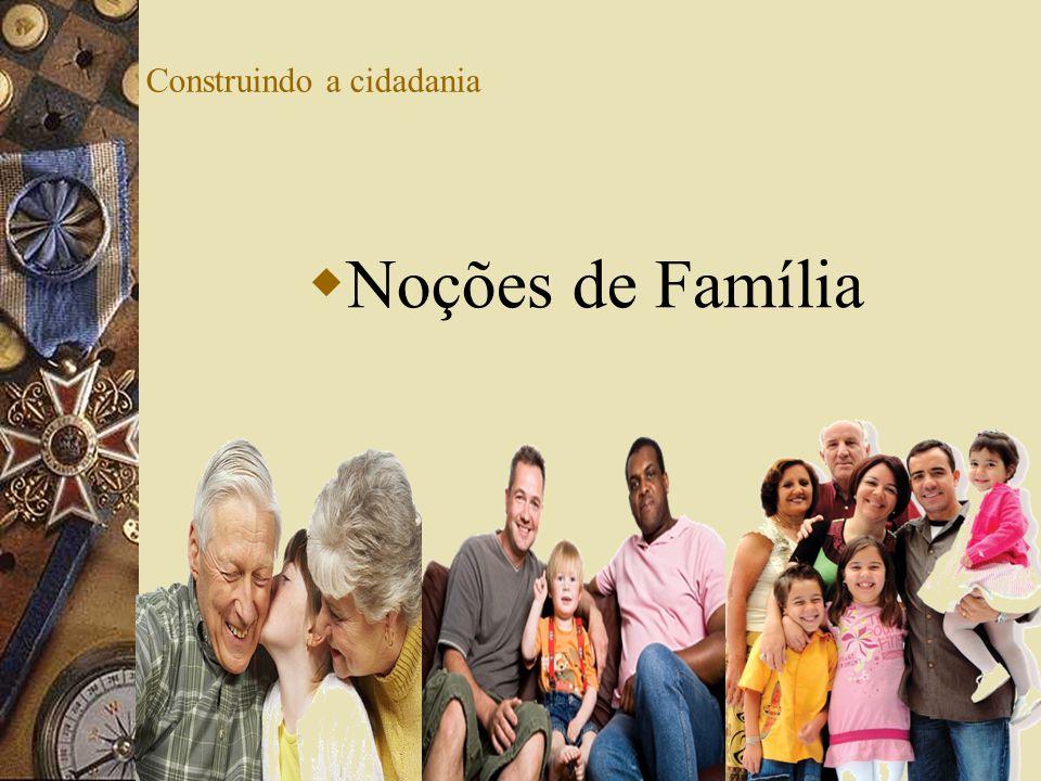 Construindo a cidadania Noções de Família