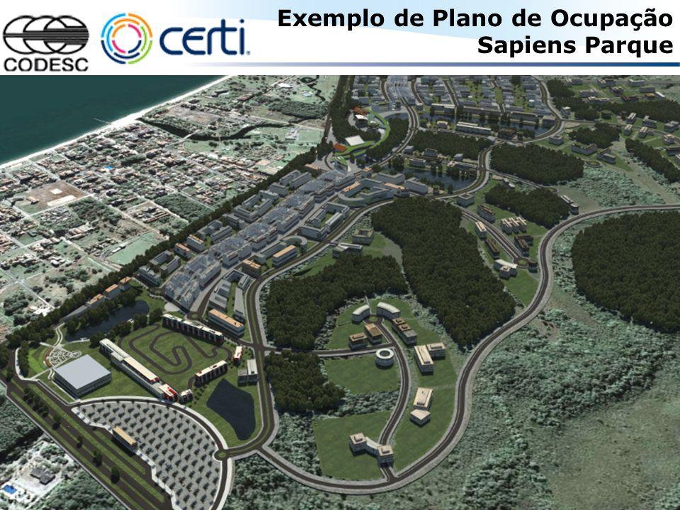 © COPYRIGHT 2008 - Fundação CERTI 20 Exemplo de Plano de Ocupação Sapiens Parque
