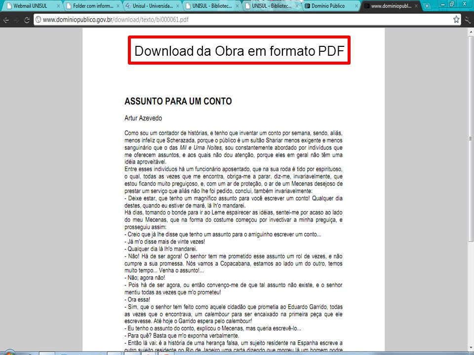 Download da Obra em formato PDF