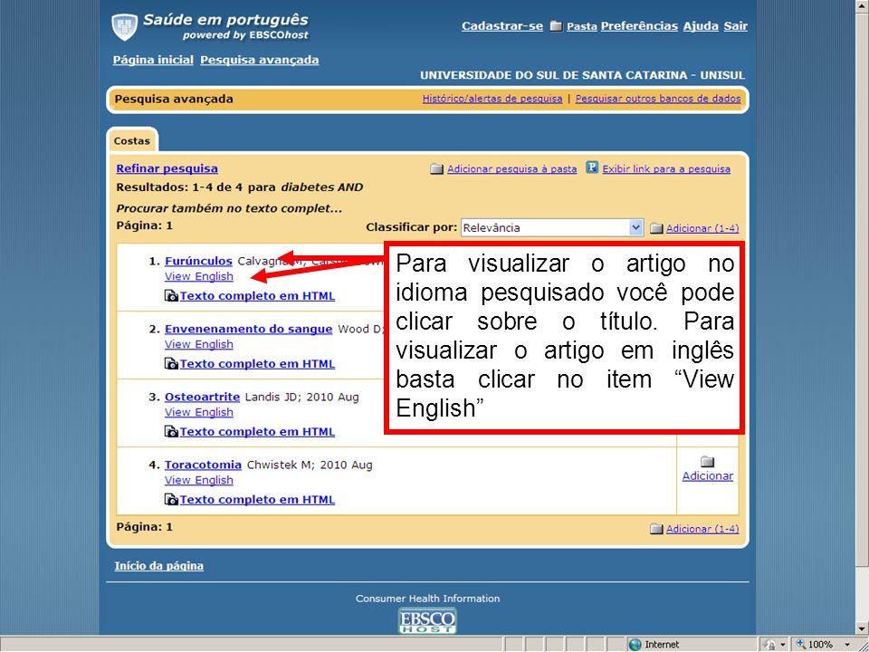 Artigo em HTML