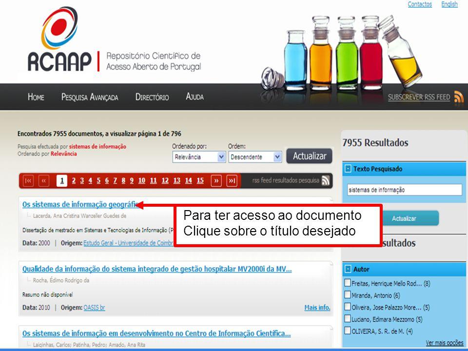 Repositório e instituição de origem do documento Informações gerais sobre o documento cc Clique aqui para acessar o arquivo em PDF
