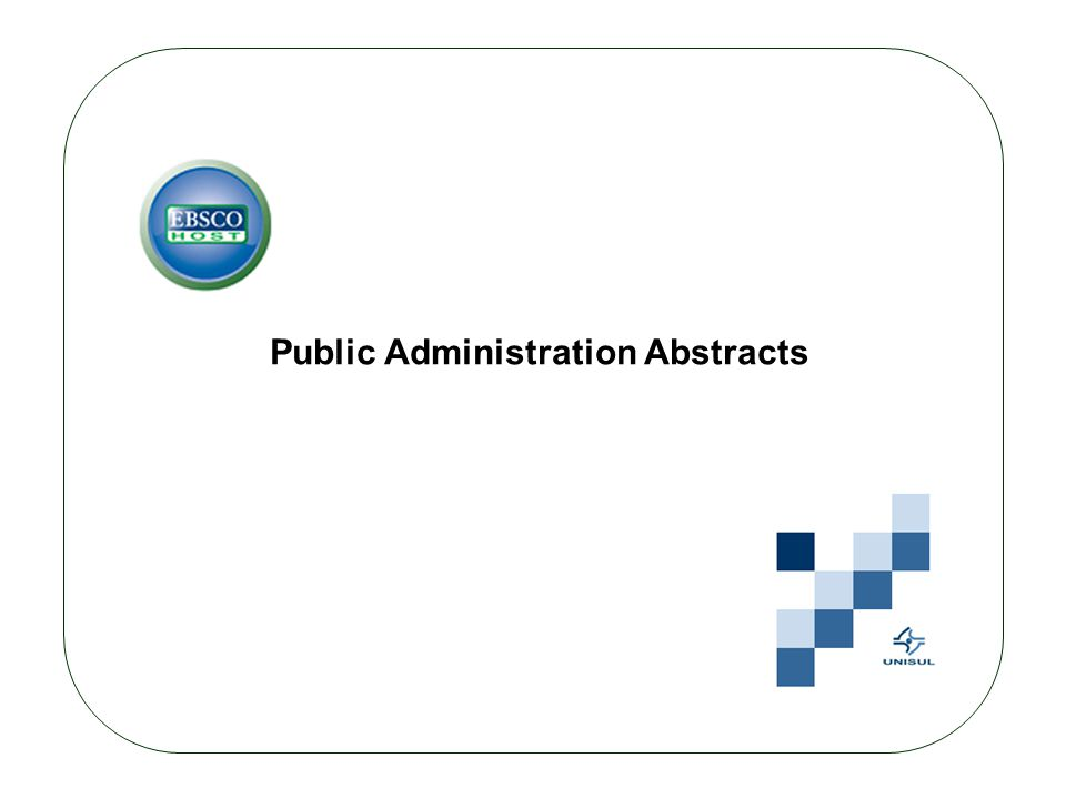 Public Administration Abstracts