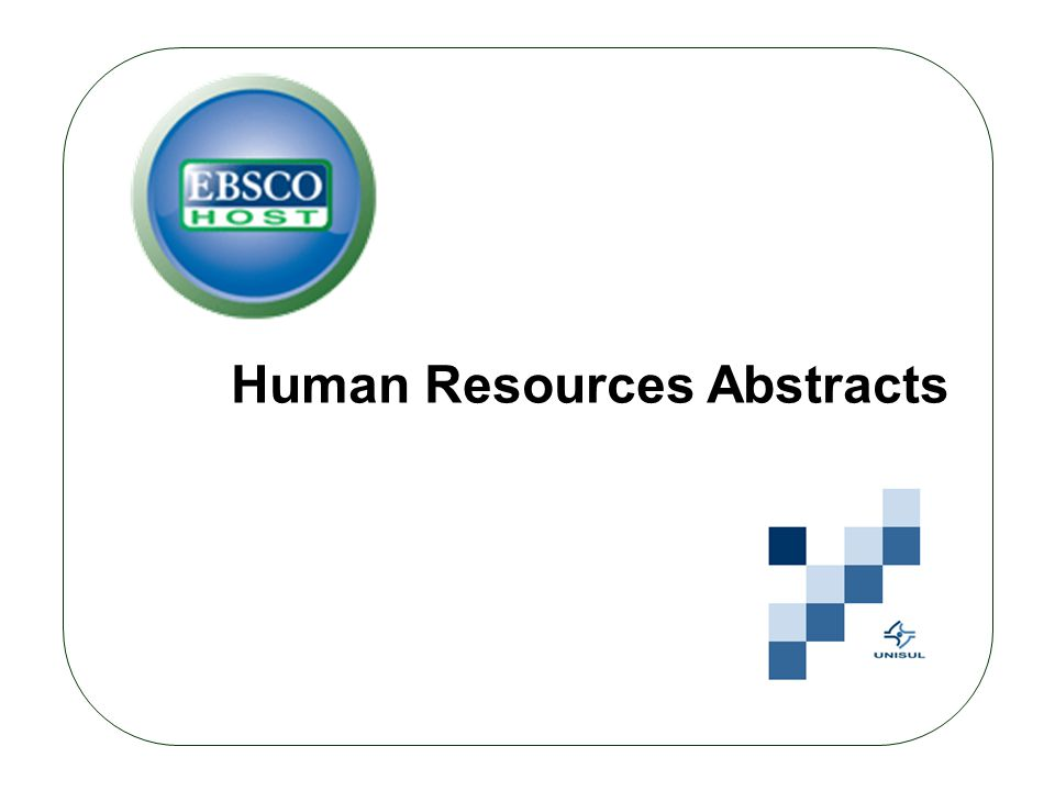 Human Resources Abstracts