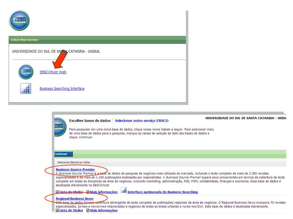 Clique aqui Para criar a conta pessoal - Salvar a pesquisa o resultado da pesquisa - Nomear pastas para cada resultada de pesquisas - Enviar o resultado da pesquisa por e-mail - Personalizar exibição de lista de resultados