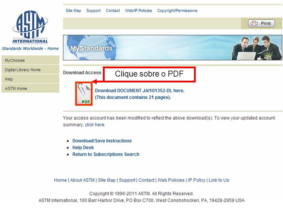 Clique sobre o PDF