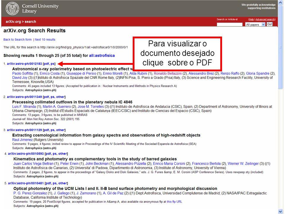 Para visualizar o documento desejado clique sobre o PDF