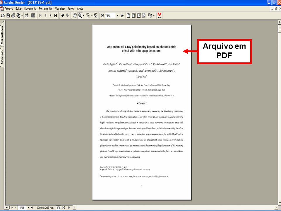 Arquivo em PDF
