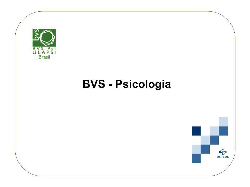 A Biblioteca Virtual em Saúde – Psicologia disponibiliza várias fontes de informação com acesso a texto completo à literatura científica: artigos, livros eletrônicos, anais, resumos de congresso e terminologias.