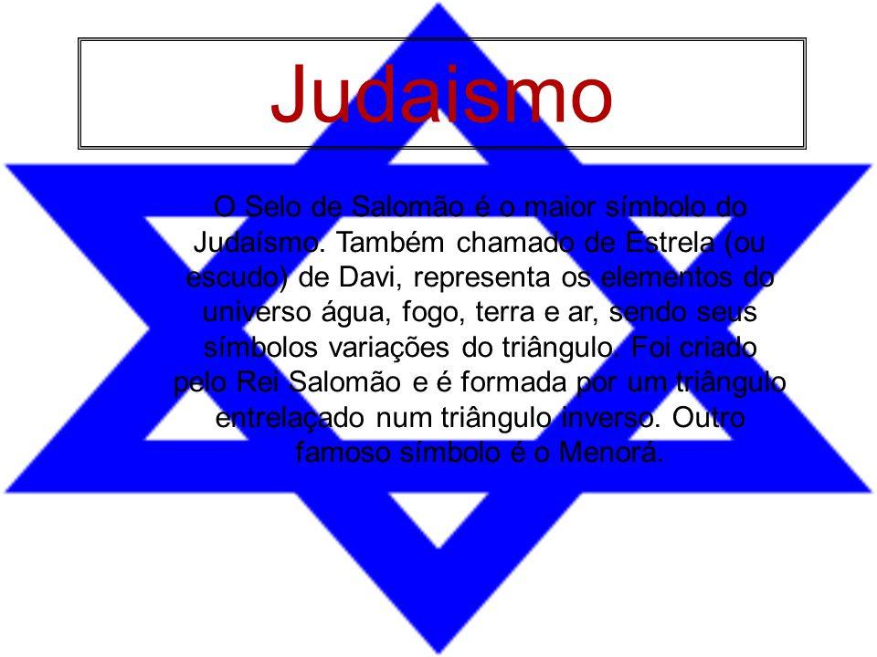 O Selo de Salomão é o maior símbolo do Judaísmo. Também chamado de Estrela (ou escudo) de Davi, representa os elementos do universo água, fogo, terra