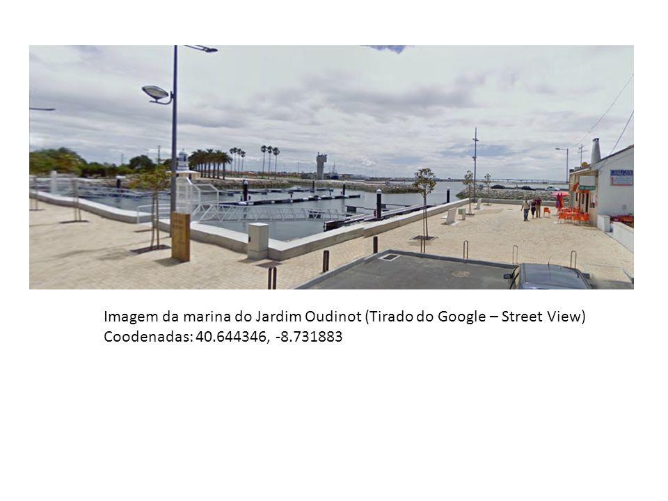 Imagem da marina do Jardim Oudinot (Tirado do Google – Street View) Coodenadas: 40.644346, -8.731883