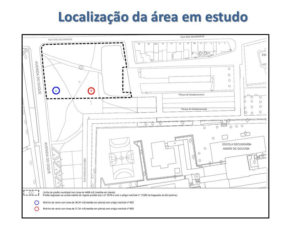 Localização da área em estudo