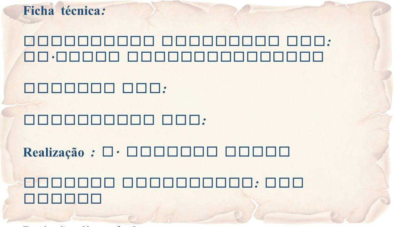 Ficha técnica : Eucaristia Celebrada por : Fr. Jacob Puthiyaparampil Animada por : Projectada por : Realização : A. Alberto Sousa Imagens recolhidas :