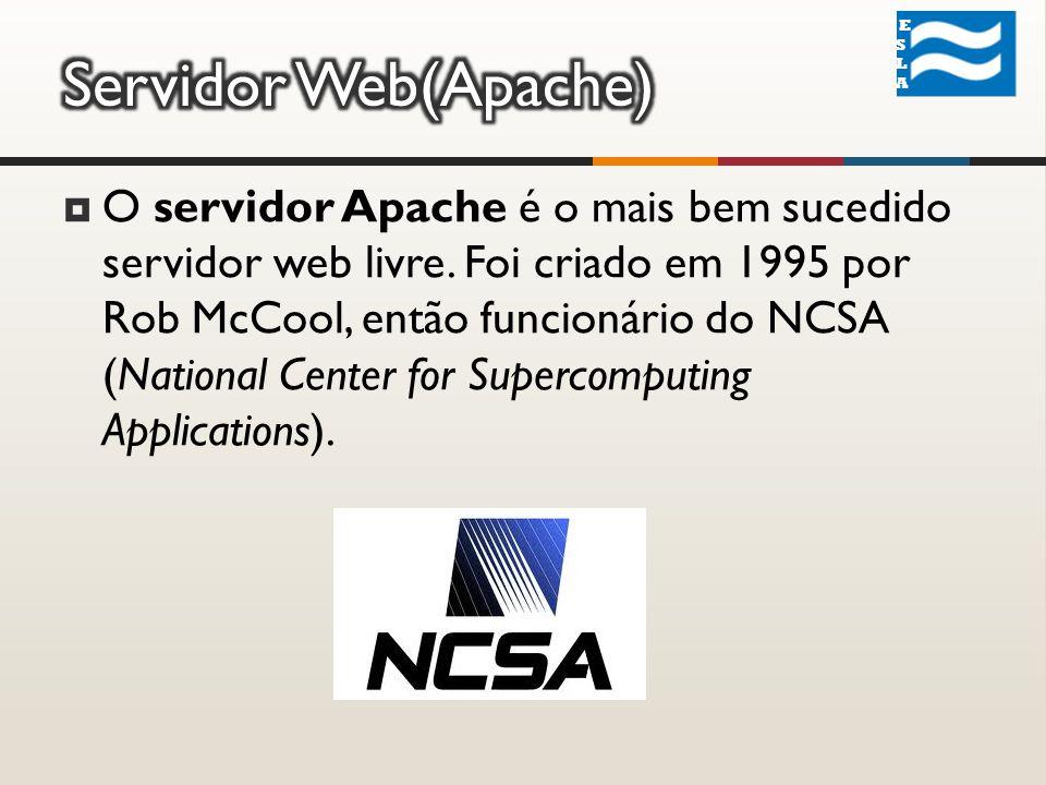 O servidor Apache é o mais bem sucedido servidor web livre.
