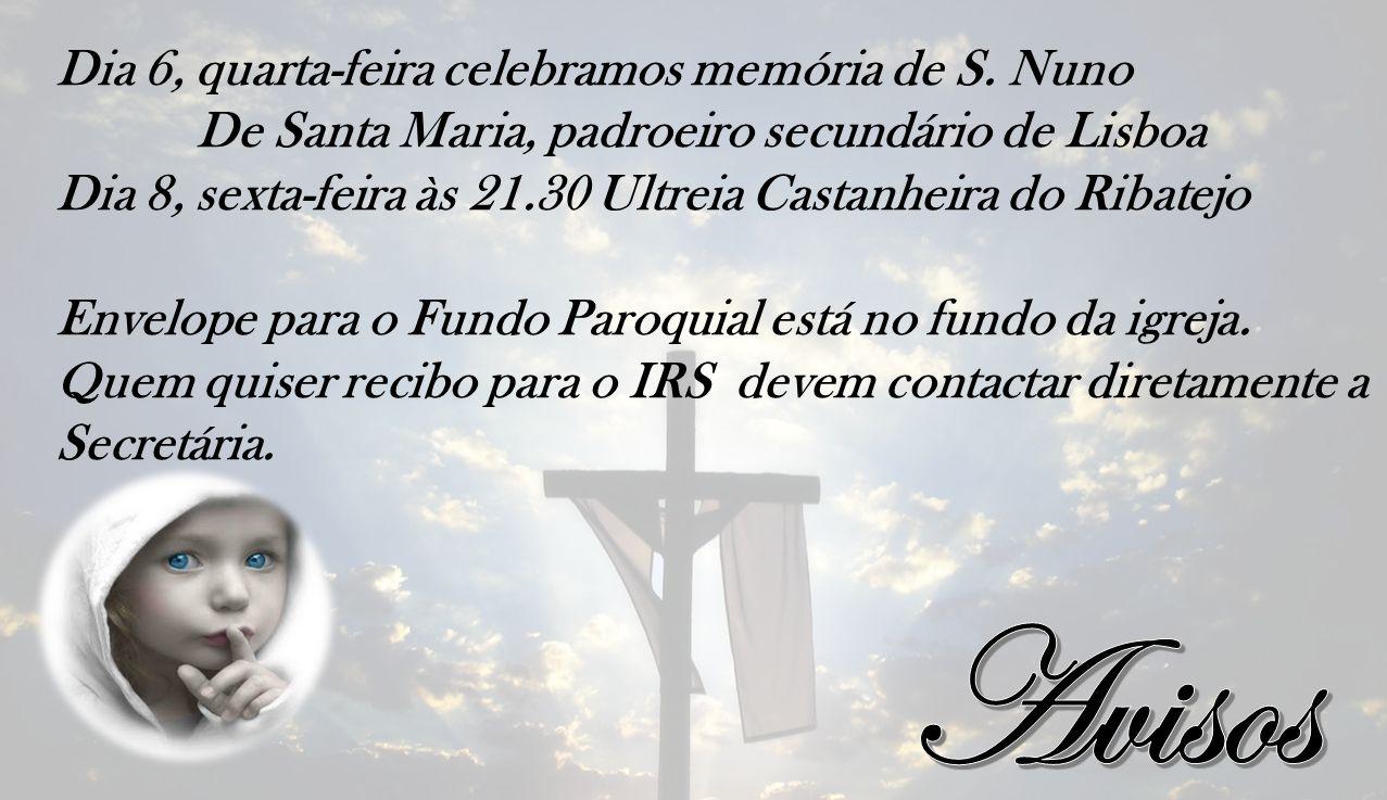 Dia 6, quarta-feira celebramos memória de S.