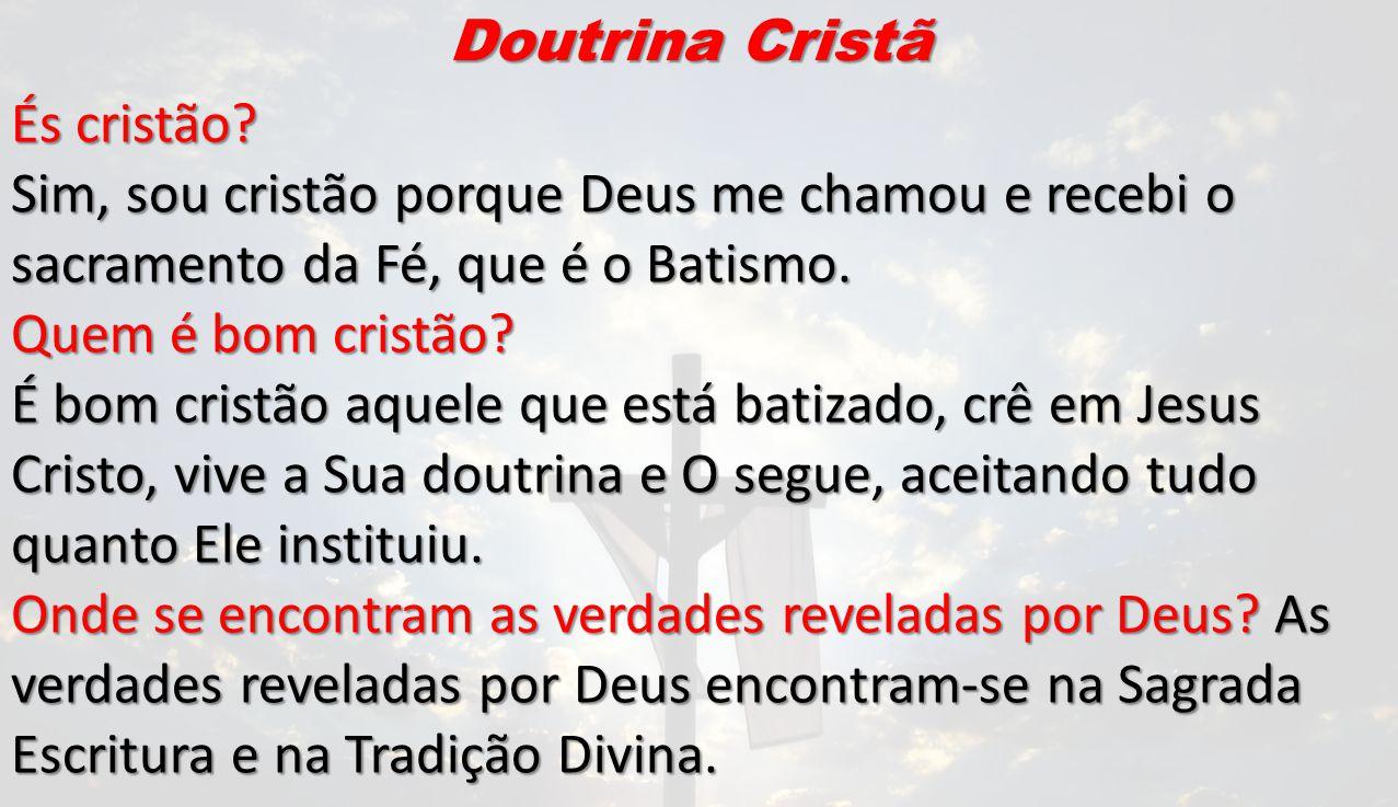 Doutrina Cristã És cristão.