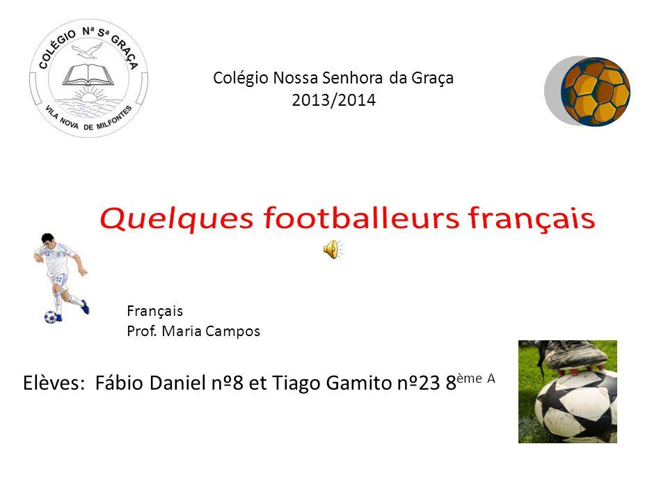 Colégio Nossa Senhora da Graça 2013/2014 Elèves: Fábio Daniel nº8 et Tiago Gamito nº23 8 ème A Français Prof. Maria Campos