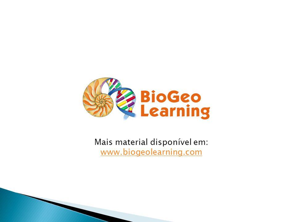 Mais material disponível em: www.biogeolearning.com www.biogeolearning.com
