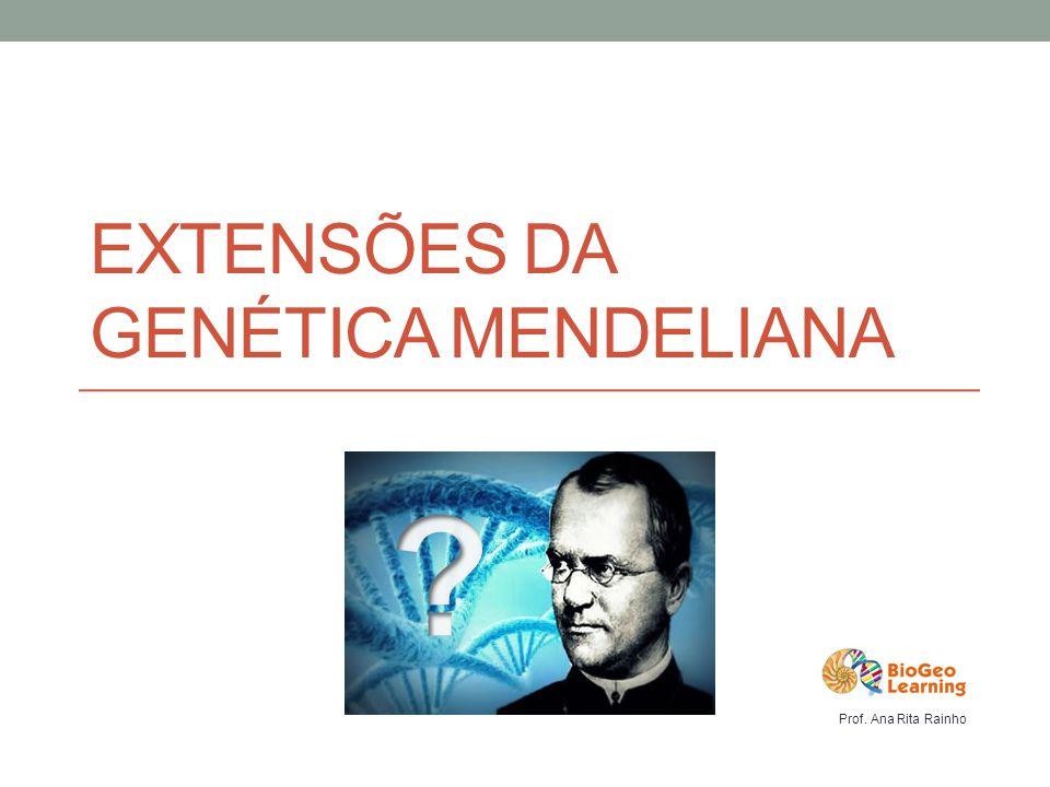 EXTENSÕES DA GENÉTICA MENDELIANA Prof. Ana Rita Rainho