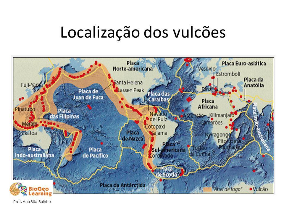 Localização dos vulcões Prof. Ana Rita Rainho