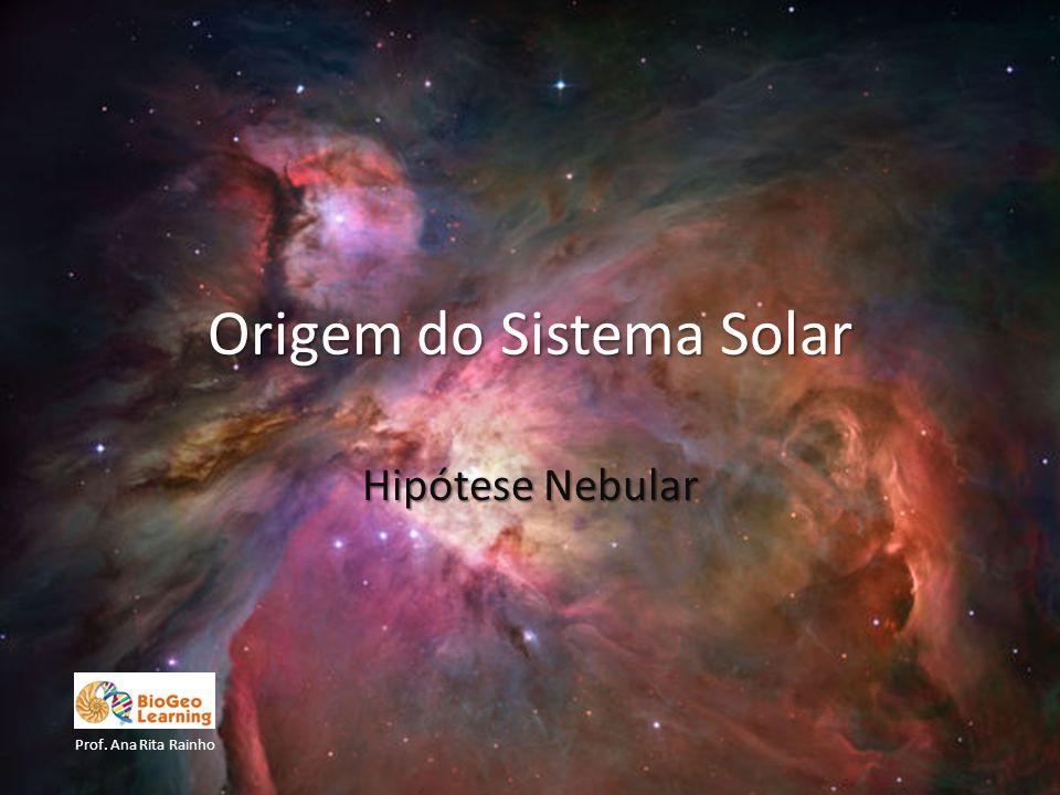 1.Contração da nébula solar, que provoca um aumento de temperatura e início da rotação.